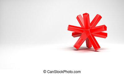 oggetto, rosso, plastica