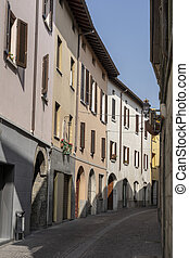 Oggiono, Italy: typical street