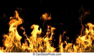 ogień, alfa, maska, hd, bez końca