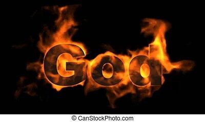 ogień, bóg, word.