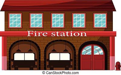 ogień, biały, stacja, tło