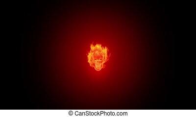 ogień, czaszka