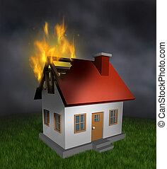 ogień dom