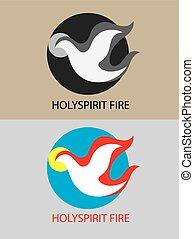 ogień, duch, święty
