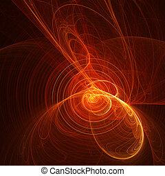 ogień, muzyka, spirala