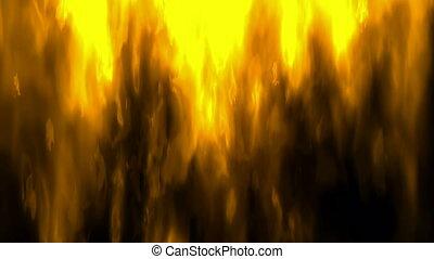 ogień, ożywienie, cyfrowy