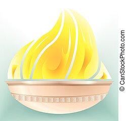 ogień, olimpijski stadion