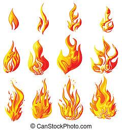 ogień, płomień