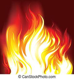 ogień, płomienie, tło