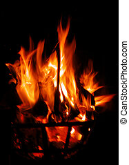 ogień, pochodnia