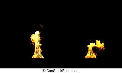 ogień, pochodnie, hd