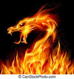ogień, smok