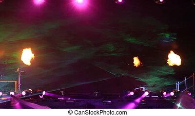 ogień, spełnienie, laser