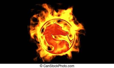 ogień, symbol., smok