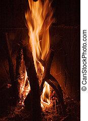 ogień, szczegół