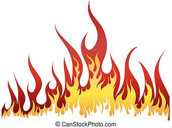 ogień, tło