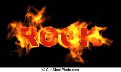 ogień, word., skała