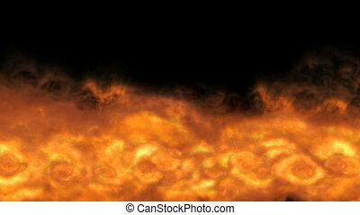 ogień, wybuch, masywny