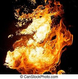 ogień, wybuch
