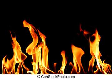 ogień, zamknięcie, płomień, do góry