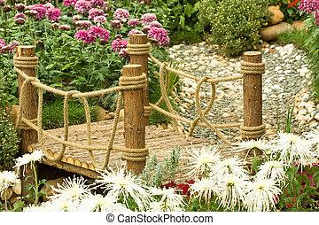 ogród, chińczyk, (landscape)