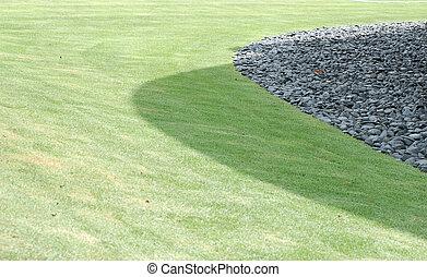 ogród, grób