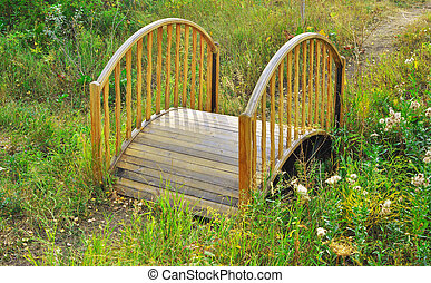 ogród, most