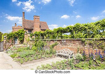ogród, od, hatfield, dom, hertfordshire, anglia