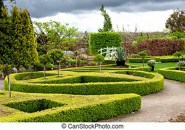 ogród, wiosna