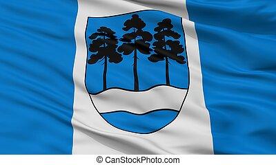 Ogre City Flag, Latvia, Closeup View - Ogre City Flag,...