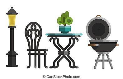 ogrodowe meble, projektować