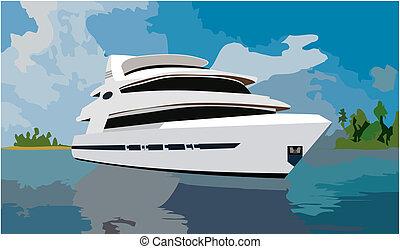 ogromny, jacht
