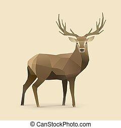 oh dear.eps - polygonal illustration of deer