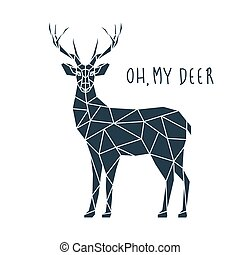 Oh my deer, vector illustration.