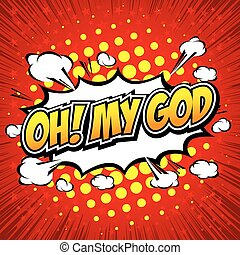 Oh! My God Comic Speech Bubble, Cartoon