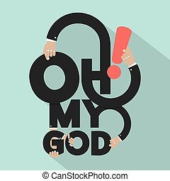 Oh My God Typography Design Vector Illustration