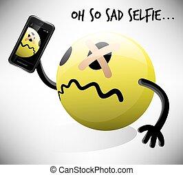 Oh So Sad Selfie Emoticon