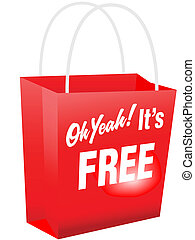 Oh Yeah Its FREE Red Shopping Bag - Retail giveaway Oh Yeah...