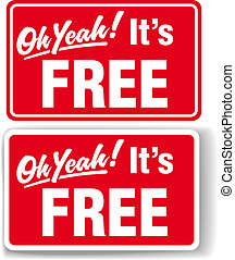 Oh Yeah Its FREE store sign set - Oh Yeah Its FREE store...