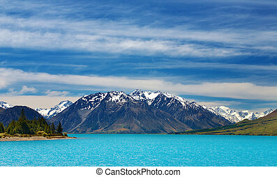 Ohau lake, New Zealand