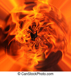 oheň, abstraktní, grafické pozadí
