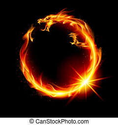 oheň, drak