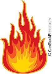 oheň, (flame)