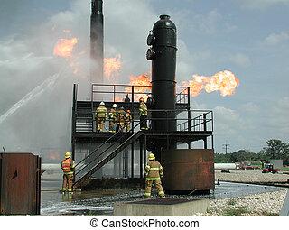 oheň, průmyslový