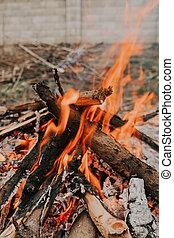 oheň, yard