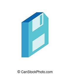 ohebný, ikona, isometric, móda, disk