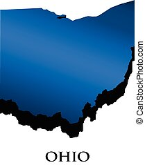 Ohio 3D map logo