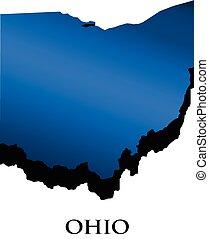 Ohio 3D map logo