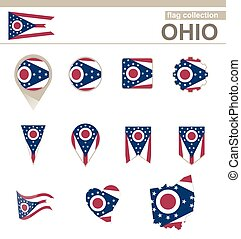 Ohio Flag Collection, USA State, 12 versions