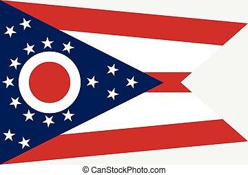 ohio, flag.